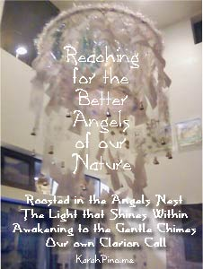 Reaching for the Better Angels of our Nature - #Artpocalypse @Mind Unwind December 2012 l Installation by Karah Pino