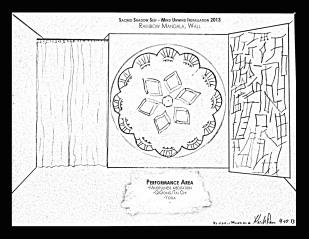 Rainbow Mandala Wall and Performance Area