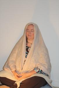 Karah Pino in meditation